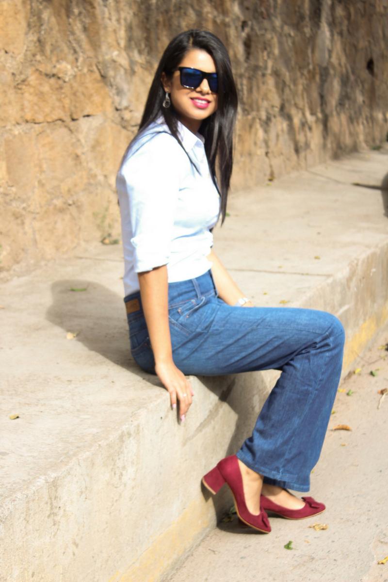 jeans flare falabella