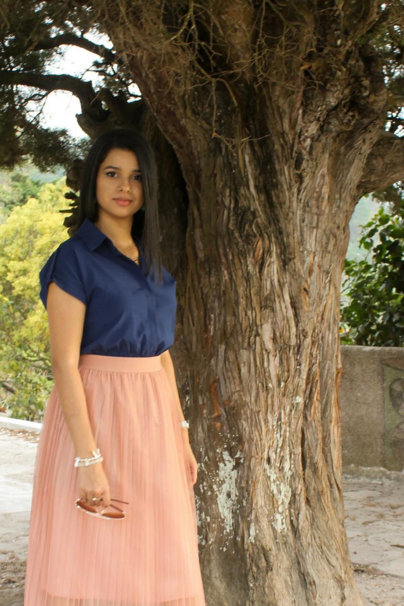 faldas midi con transparencias y tul
