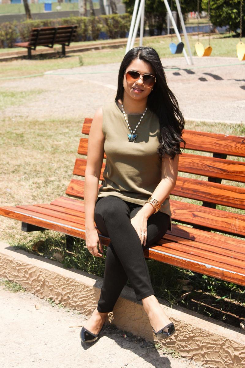 camisa verde militar para mujer