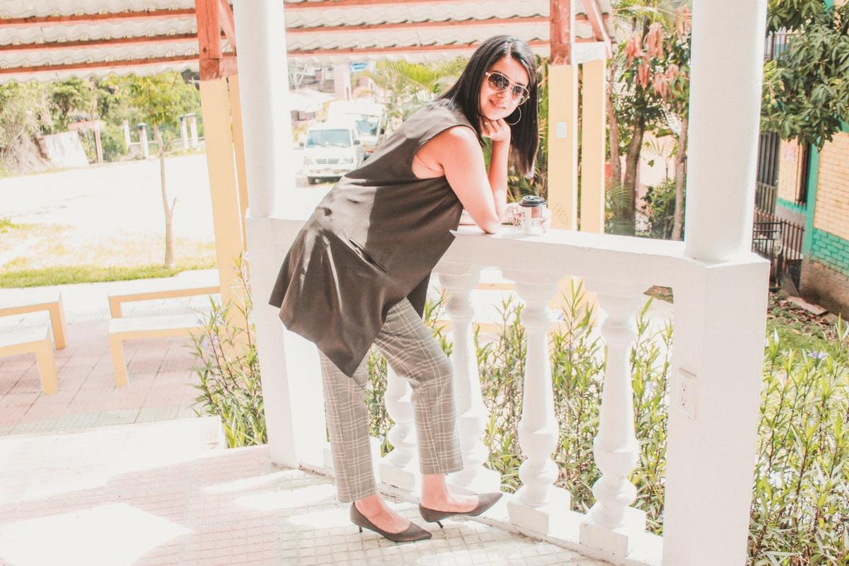 pantalón a cuadros de moda