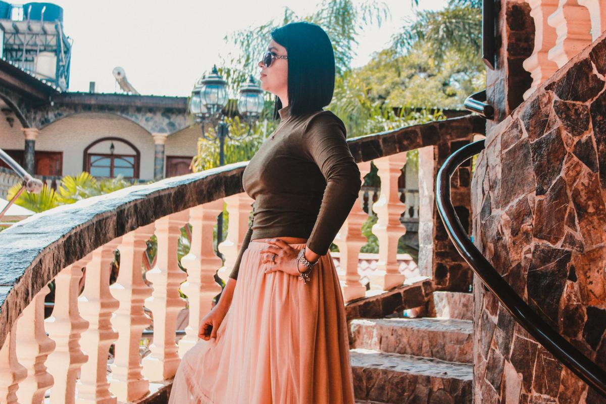 falda tul hermosa