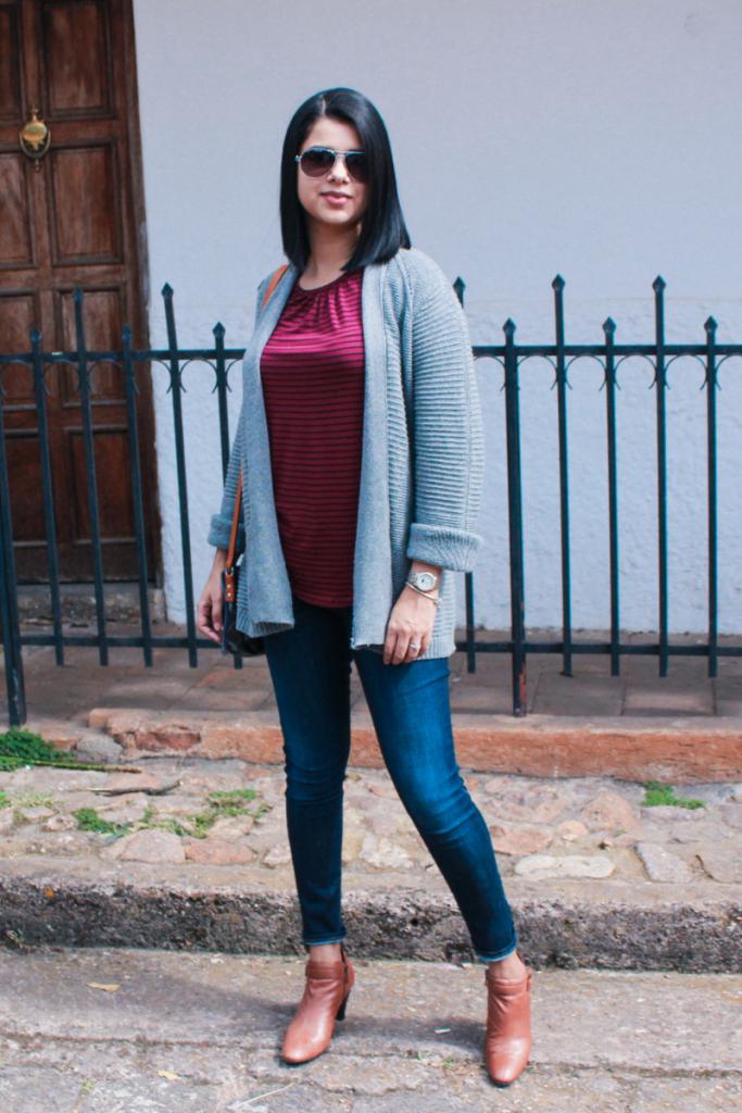 suéter tejido de moda