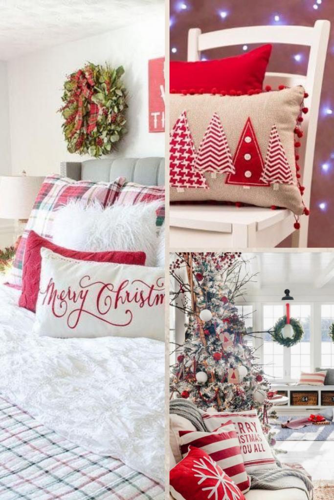 decoración navideña con cojines