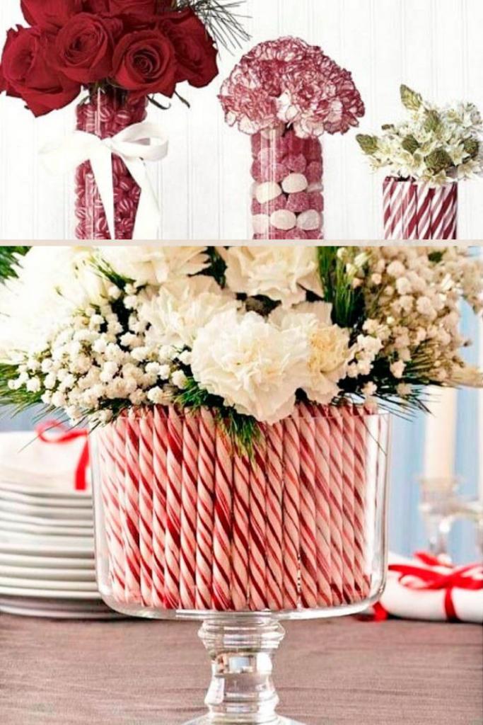 decoración navideña con dulces