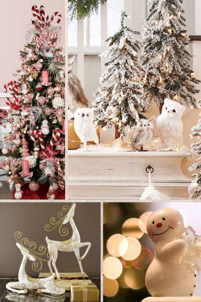 decoración navideña con figuras de animales
